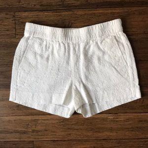 Jcrew white brocade shorts